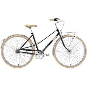 Creme Caferacer Uno 7-speed Dames, black sparkle